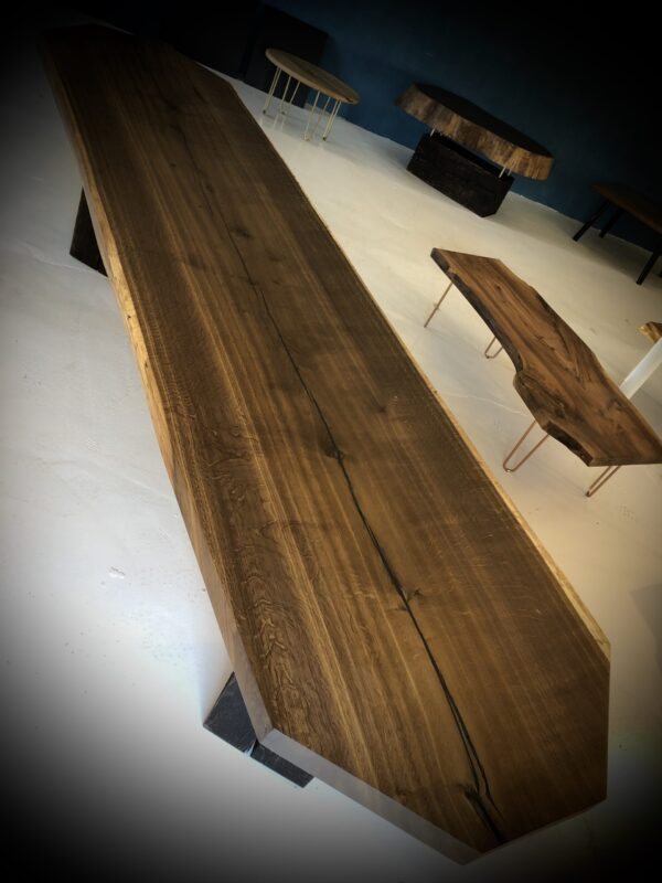 Long table in Smoked Oak