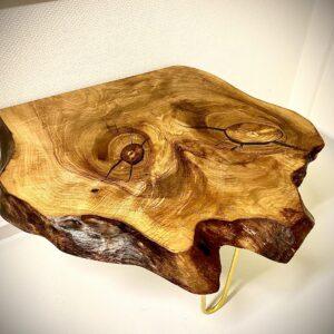 Rustic side table in American walnut